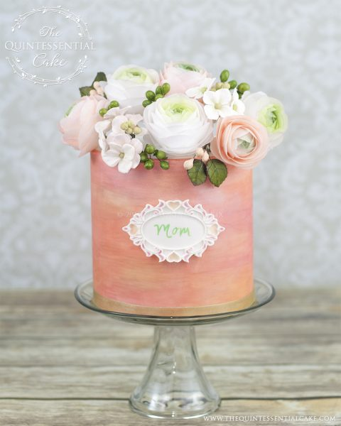 Floral Moms Cake | The Quintessential Cake | Chicago | Custom Cakes