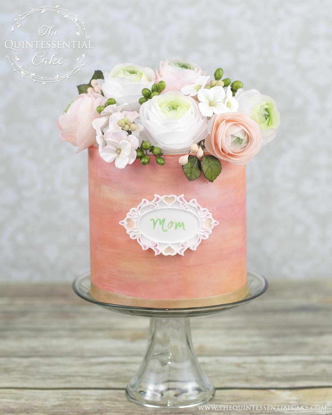 Floral Moms Cake