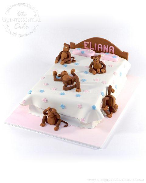 Five Little Monkeys Cake | The Quintessential Cake | Chicago | Custom Cakes