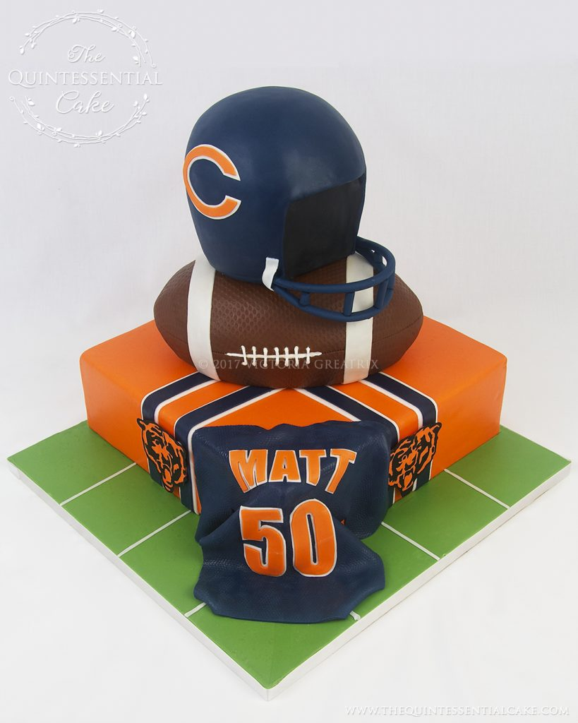 Chicago Bears Cake | The Quintessential Cake | Chicago | Custom Cakes