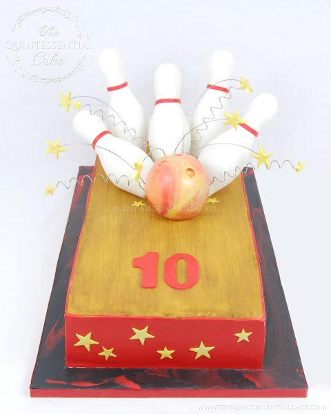 Bowling Cake | The Quintessential Cake | Chicago | Custom Cakes