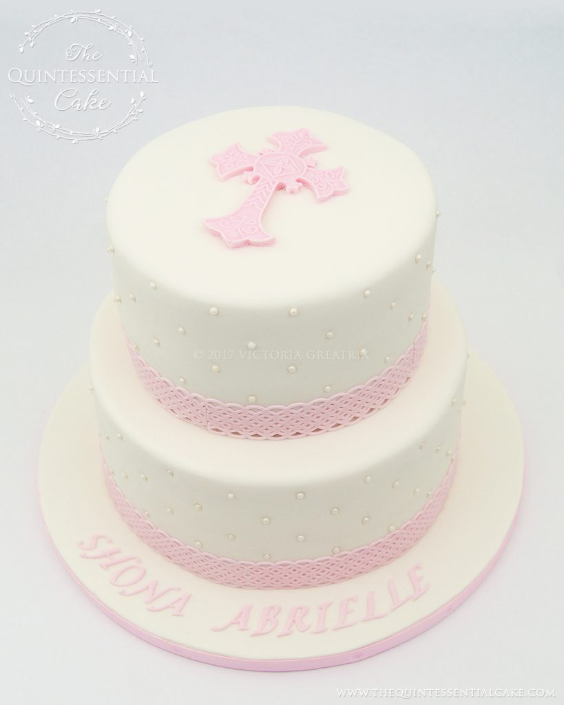 Celtic Christening Cake | The Quintessential Cake | Chicago | Custom Cakes