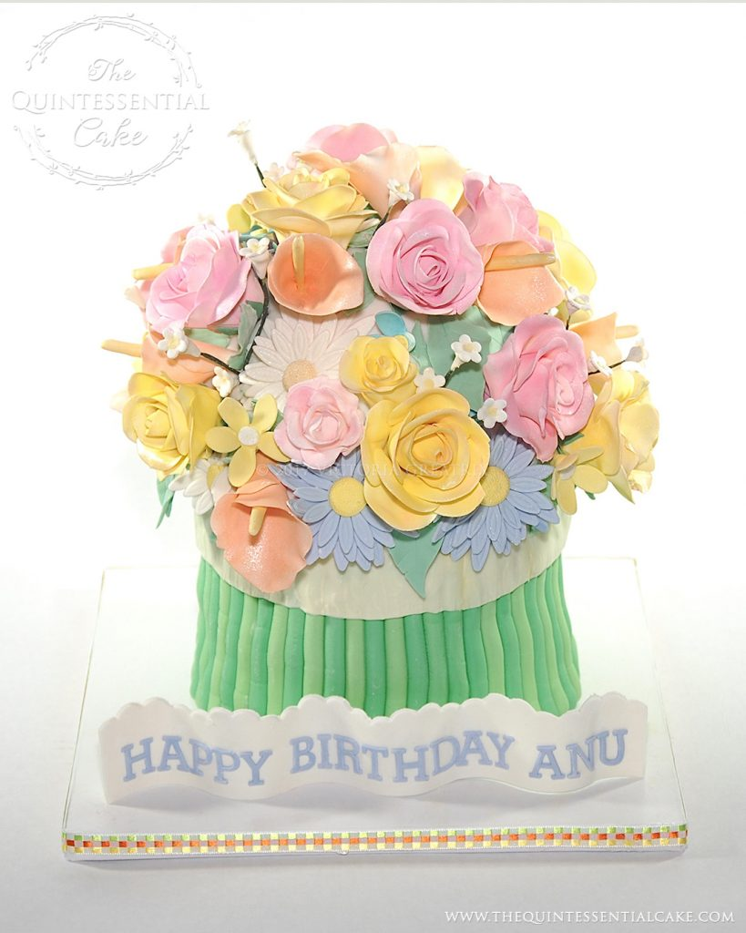 Flower Bouquet Cake | The Quintessential Cake | Chicago | Custom Cakes