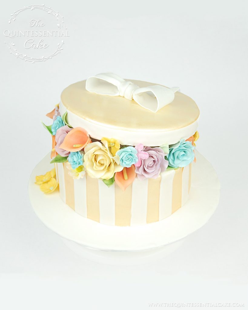 Flower Box Cake | The Quintessential Cake | Chicago | Custom Cakes