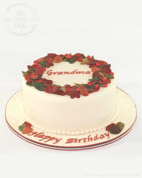 Grandma Birthday Cake | The Quintessential Cake | Chicago | Custom Cakes
