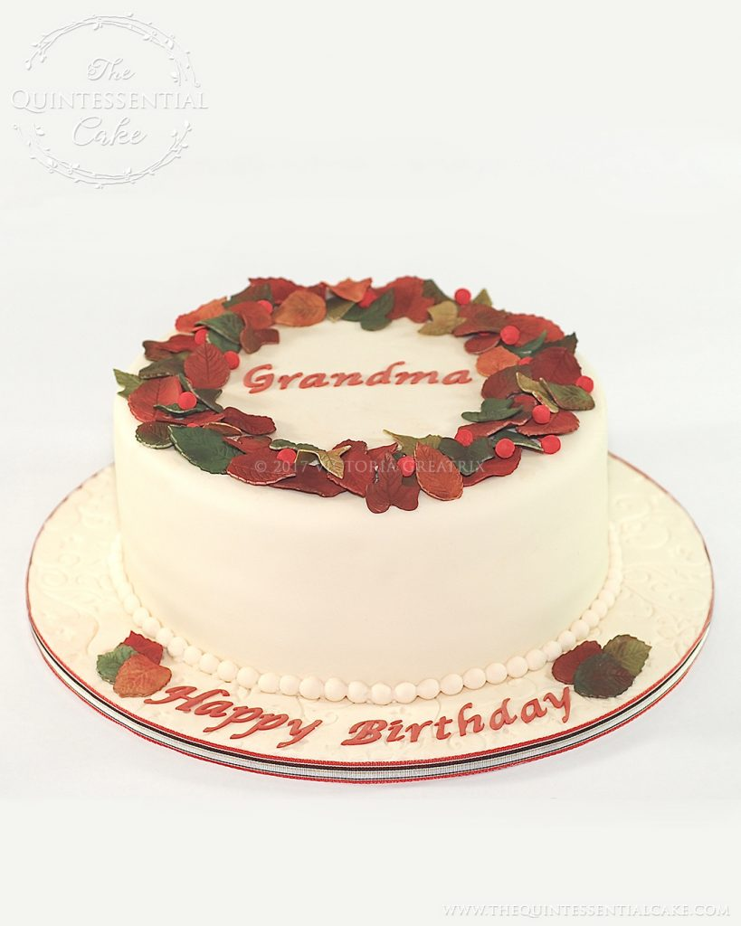 Grandma Birthday Cake | The Quintessential Cake | Chicago | Custom Cakes