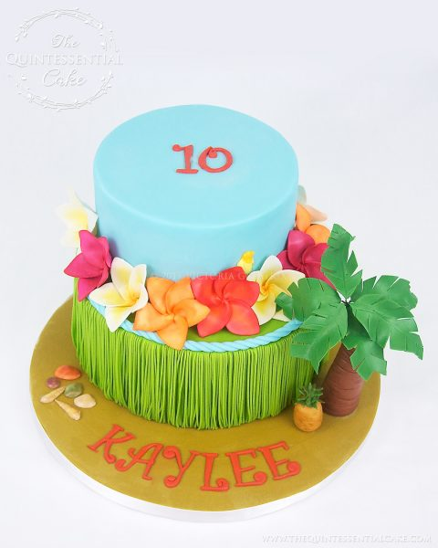Luau Cake | The Quintessential Cake | Chicago | Custom Cakes | Icing Smiles