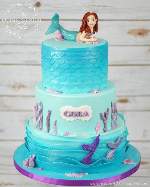 Mermaid Cake | The Quintessential Cake | Chicago | Custom Cakes