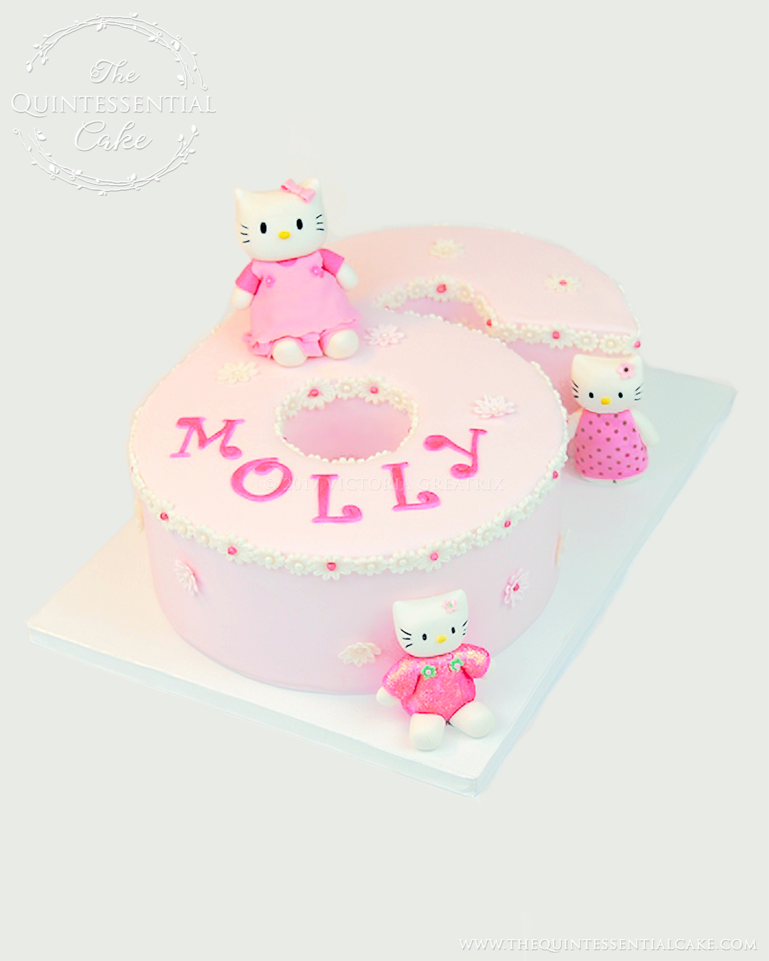 Number 6 Hello Kitty Cake
