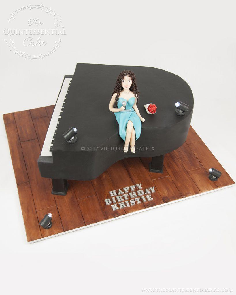 Piano & Singer Cake