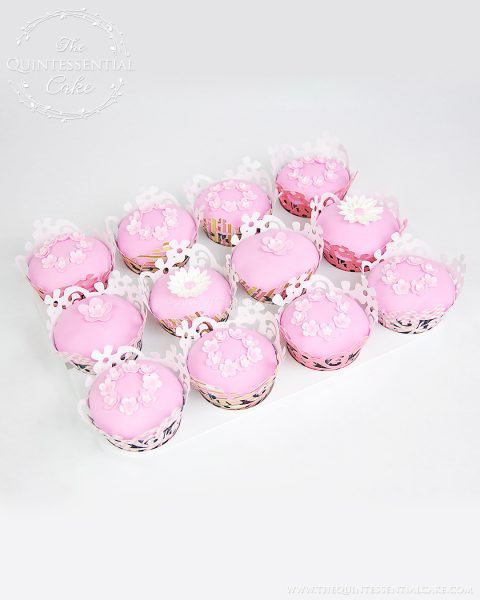 Pink Cupcakes | The Quintessential Cake | Chicago | Custom Cakes
