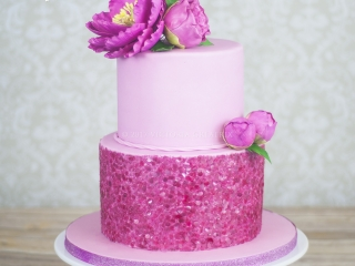 Pink Sequins & Peonies