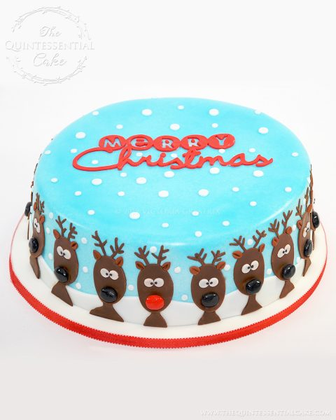 Reindeer Christmas Cake | The Quintessential Cake | Chicago | Custom Cakes