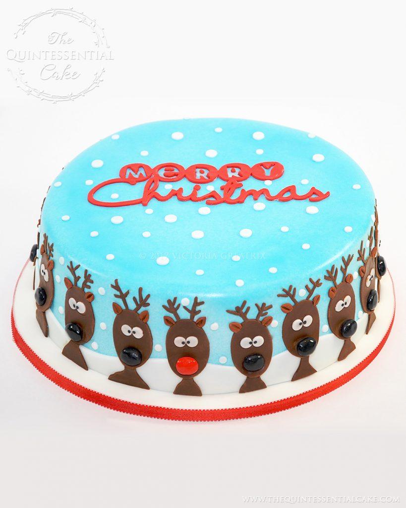 Reindeer Christmas Cake | The Quintessential Cake | Chicago | Custom Cakes