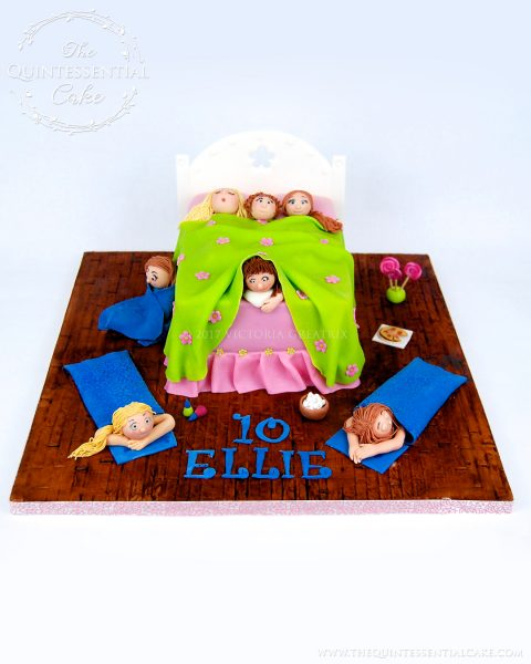 Tween Sleepover Cake | The Quintessential Cake | Chicago | Custom Cakes