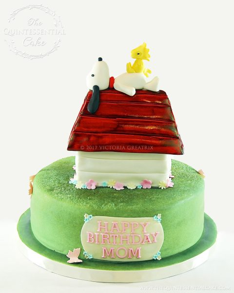 Snoopy Cake | The Quintessential Cake | Chicago | Custom Cakes