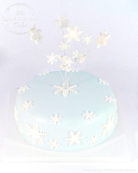 Snowflake Cake | The Quintessential Cake | Chicago | Custom Cakes
