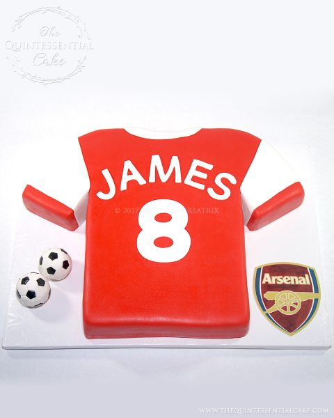 Soccer Shirt Cake | The Quintessential Cake | Chicago | Custom Cakes
