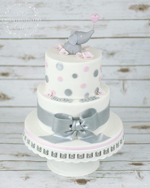 Elephant Baby Shower Cake | The Quintessential Cake | Chicago | Custom Cakes