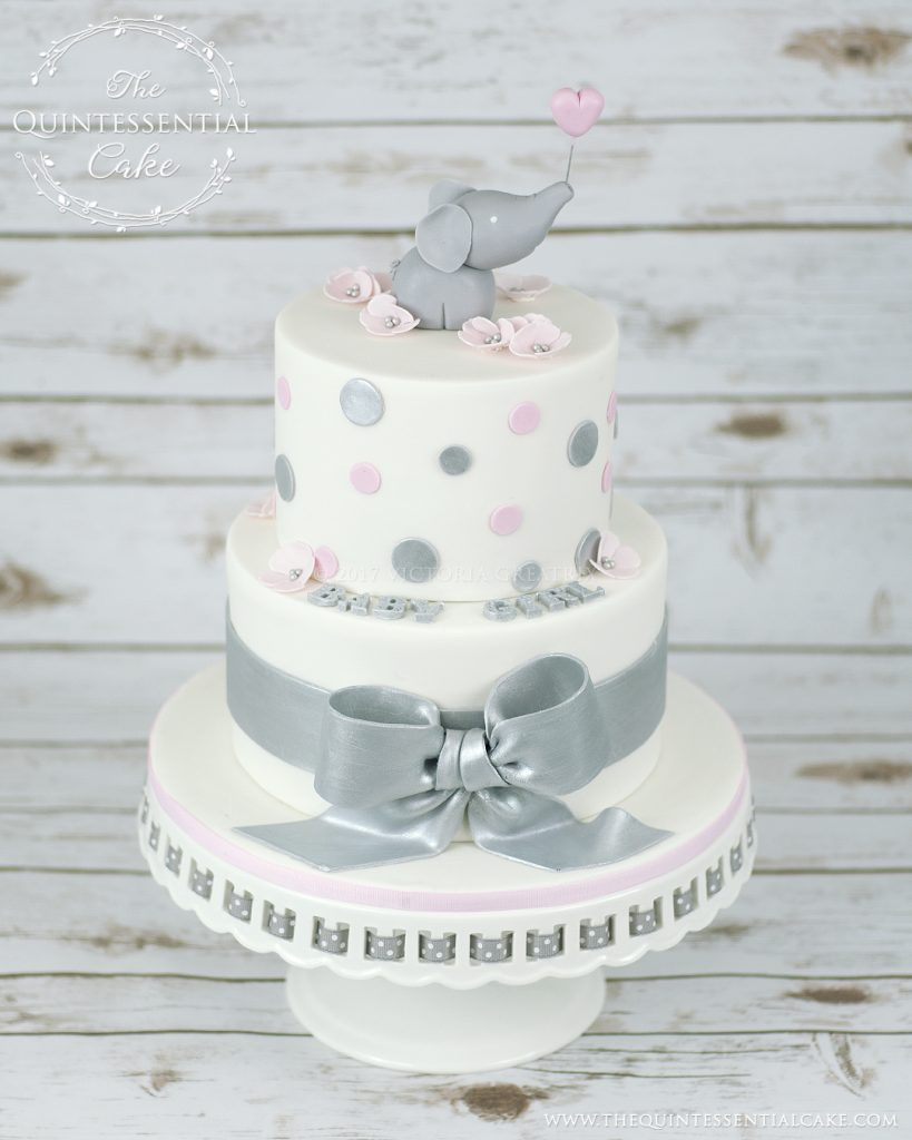 Elephant Baby Shower Cake | The Quintessential Cake | Chicago | Custom Cakes
