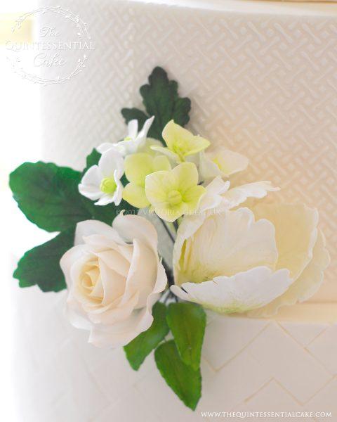 Sugar Flower Closeup   The Quintessential Cake   Chicago   Luxury Wedding Cakes   The Armour House