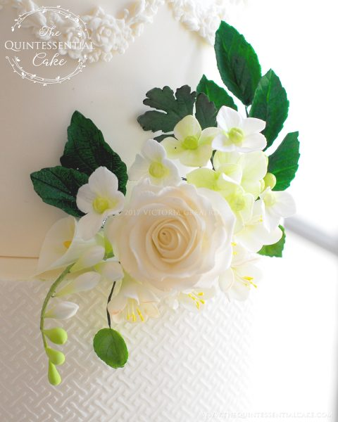 Sugar Flower Closeup | The Quintessential Cake | Chicago | Luxury Wedding Cakes | The Armour House