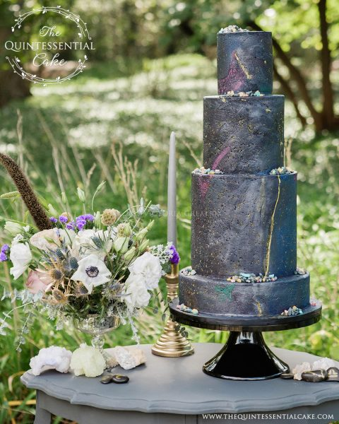 Galaxy Themed Cake | The Quintessential Cake | Chicago | Luxury Wedding Cakes | Hyatt Lodge