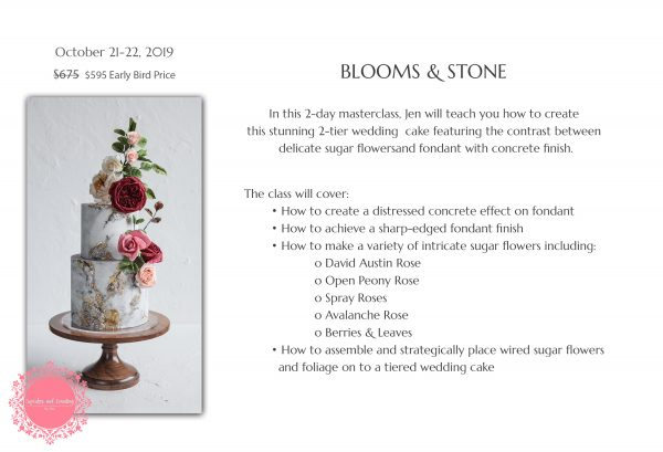 Upcoming Classes: Blooms & Stone | The Quintessential Cake | Chicago | Luxury Wedding Cakes
