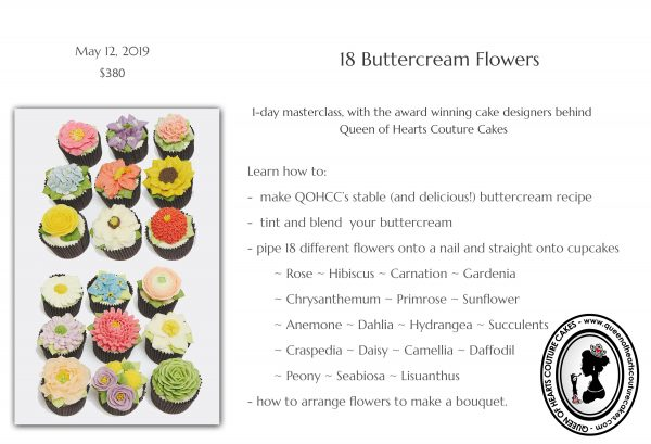 Upcoming Classes: 18 Buttercream Flowers | The Quintessential Cake | Chicago | Luxury Wedding Cakes