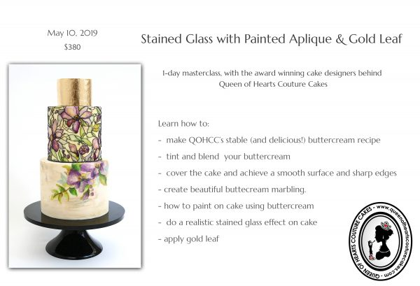 Upcoming Class: Buttercream Stained Glass Effect | The Quintessential Cake | Chicago | Luxury Wedding Cakes
