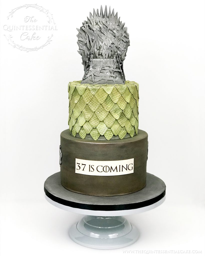 GoT Themed Birthday Cake | The Quintessential Cake | Chicago | Luxury Wedding Cakes