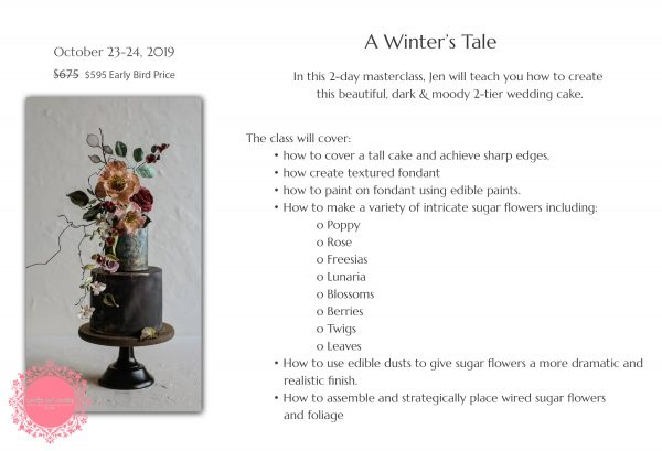 Upcoming Class: A Winter's Tale | The Quintessential Cake | Chicago | Luxury Wedding Cakes