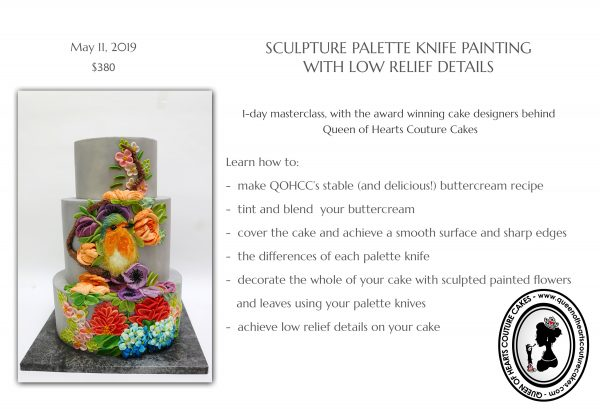 Upcoming Classes: Palette Knife Painting | The Quintessential Cake | Chicago | Luxury Wedding Cakes