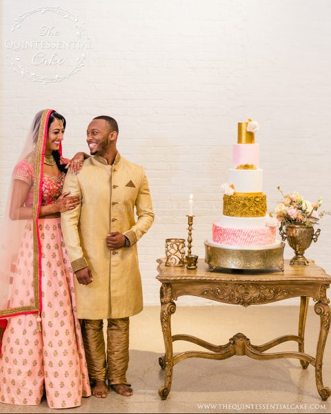 Romantic Indian Wedding | The Quintessential Cake | Chicago | Luxury Wedding Cakes | Chez Chicago