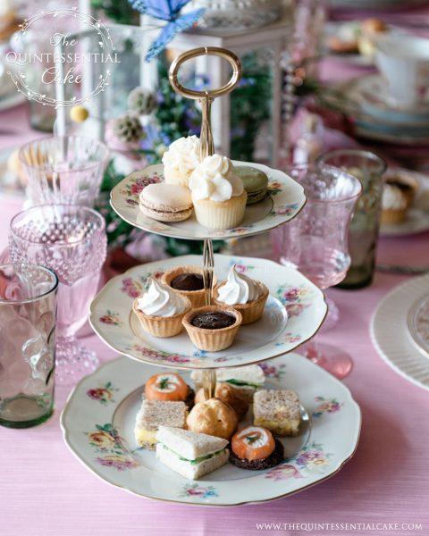 Bridal Shower Tea Party & Dessert Table   The Quintessential Cake   Chicago   Luxury Wedding Cakes   Evanston Golf Club