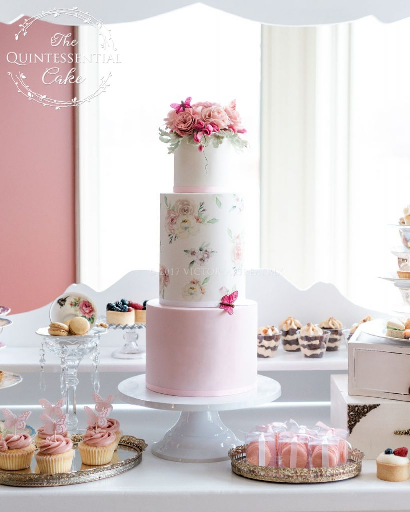Bridal Shower Tea Party & Dessert Table | The Quintessential Cake | Chicago | Luxury Wedding Cakes | Evanston Golf Club