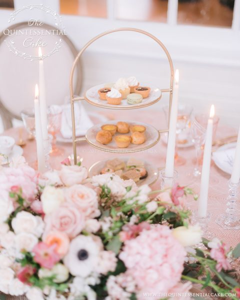 Wedding Tea Party & Dessert Table | The Quintessential Cake | Chicago | Luxury Wedding Cakes | Danada House