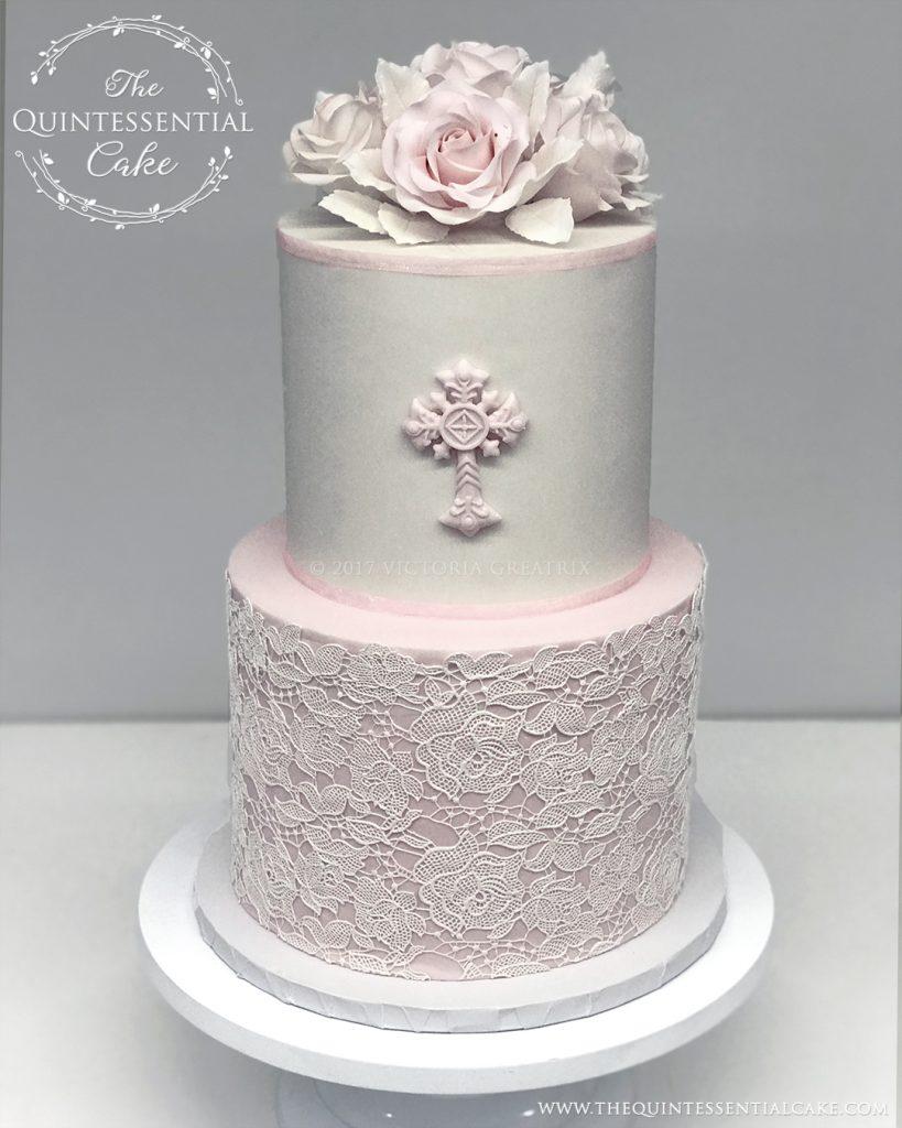 Baptism/Christening Cake | The Quintessential Cake | Sullivan's Steakhouse | Naperville | Custom Cakes