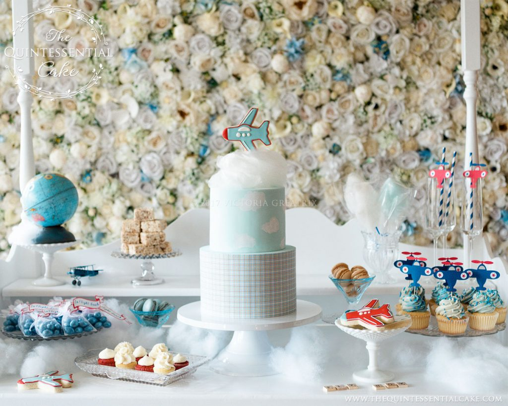 Baby Shower Dessert Table | The Quintessential Cake | Chicago | Luxury Wedding Cakes | Evanston Golf Club