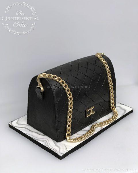TQC Handbag Cake | The Quintessential Cake | Chicago | Custom Cakes