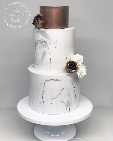 TQC Copper & Marble Cake | The Quintessential Cake | Naperville | Chicago | Custom Cakes