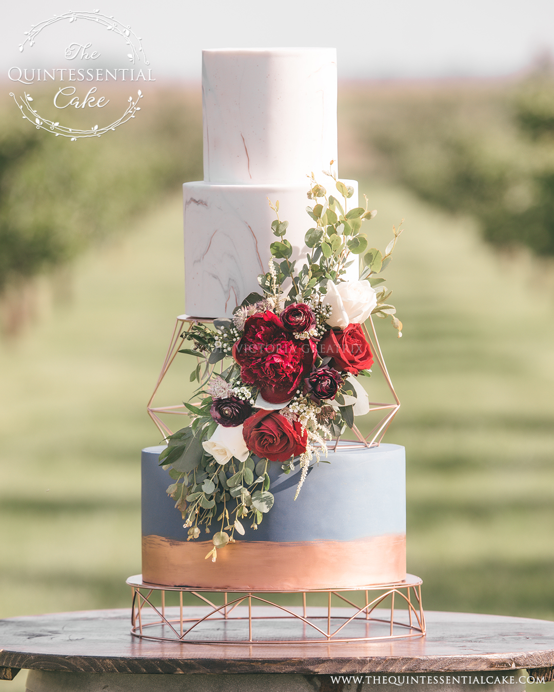 TQC Vineyard Cake | The Quintessential Cake | Chicago | Luxury Wedding Cakes | Acquaviva Winery