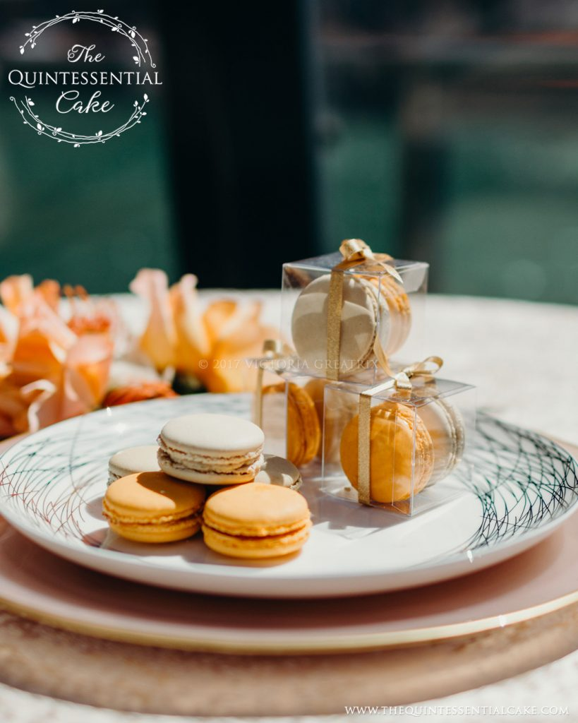 TQC Macarons | The Quintessential Cake | Chicago | Luxury Wedding Cakes | The Odyssey | Chicago Style Weddings Designer's Challenge | Chicago River