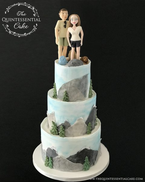 TQC Hiking Groom's Cake | The Quintessential Cake | Chicago | Luxury Wedding Cakes | Sogno | Wheaton