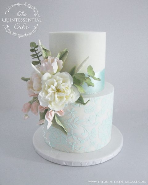 TQC Small Wedding Cake | The Quintessential Cake | Wheaton | Chicago | Wedding Cakes