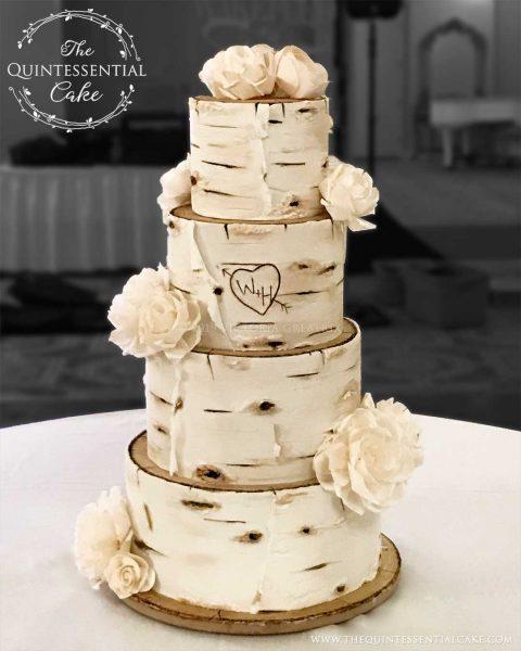Birch Wedding Cake | The Quintessential Cake | Wheaton | Chicago | Wedding Cakes | Druary Lane