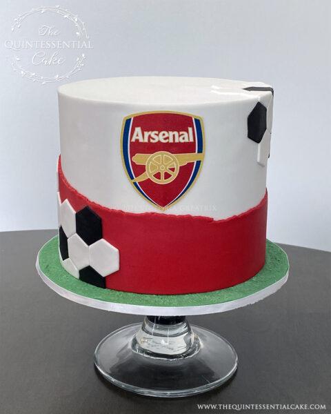 Arsenal Themed Birthday Cake Cake | The Quintessential Cake | Wheaton | Chicago | St. Charles | Custom Cakes |