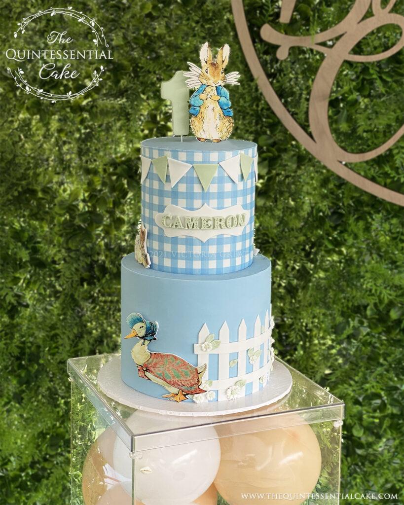 Beatrix Potter Birthday Cake | The Quintessential Cake | Wheaton | Chicago | Custom Cakes | Naperville | St. Charles